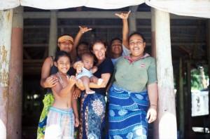 Samoa - isola di Manono - visitando i villaggi