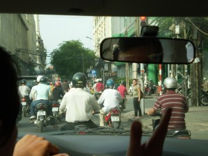 Vietnam - in taxi a Ho Chi Min City