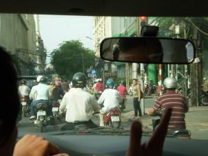 Vietnam - in taxi a Ho Chi Min City