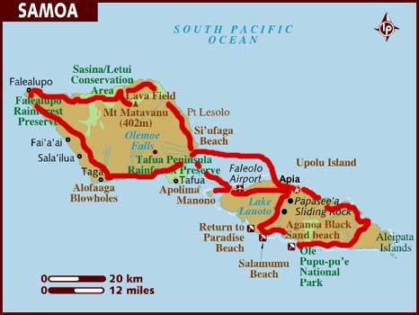 mappa di Samoa