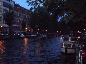 Amsterdam - canali di sera