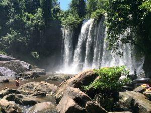 Fall and pool - Cambodia