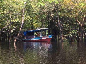 in partenza sul Rio Negro