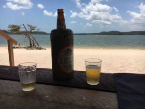 Alter do Chao - beer on the beach