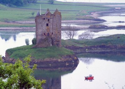 Ancient Tower and Boat, Scotland