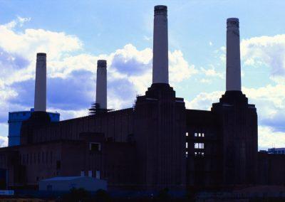 Battersea  silhouette - London, England