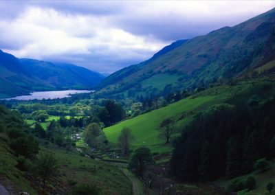 Beautiful Valley with Clouds - Wales