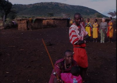 Man and Women - Maasai Village - Kenya