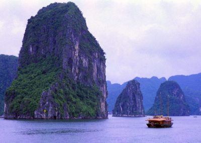 Peaceful Time in Halong Bay , Vietnam
