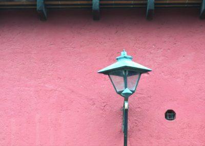 Pink Wall - Antigua - Guatemala, Central America