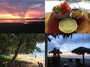 sunrise and sunset in puerto viejo costa rica 300x225 - La frontiera tra Panama e Costa Rica: la fine del viaggio e un inizio!
