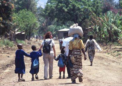 Walking in Mto wa Mbu Village - Tanzania