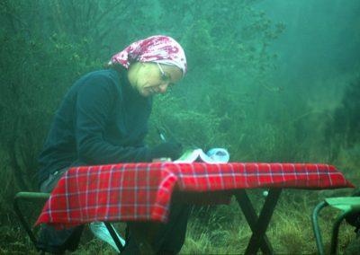Writing Diary - Second Base Camp - Kilimanjaro Trekking - Tanzania