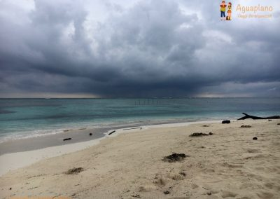 Beach with storm - San Blas Islands, Panama