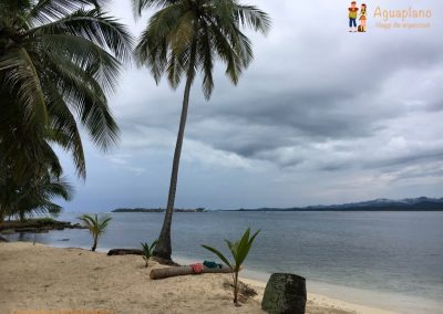 Beach without sun - San Blas Islands, Panama