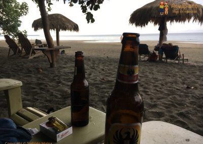 Beer on the beach - Puerto Viejo, Costa Rica