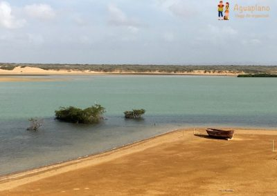 Boat and sea - La Guajira, Colombia
