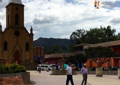Central Square - Raquira, Colombia