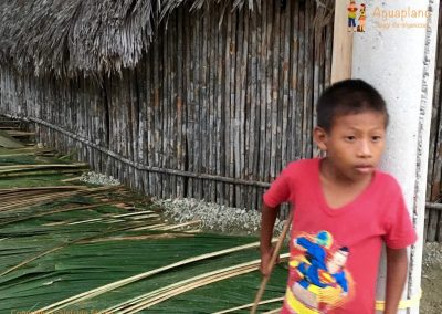 Child in Kuna's village - San Blas Islands, Panama