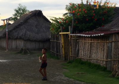 Kuna's child in the village - San Blas Islands, Panama