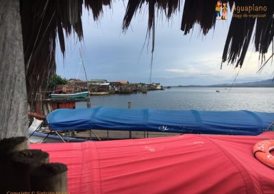 Kuna's village at sunset - San Blas Islands, Panama
