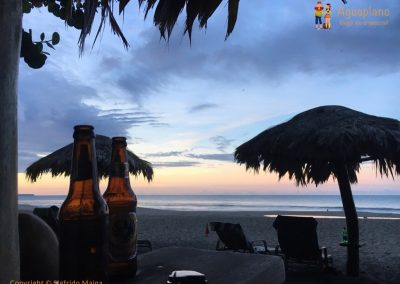 Sunset and beers - Puerto Viejo, Costa Rica