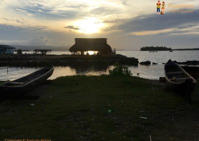Sunset in Kuna's village 2 - San Blas Islands, Panama