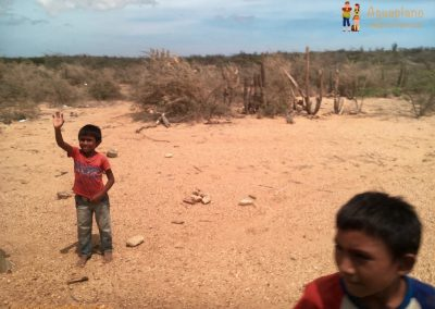 Wayuu children in La Guajira, Colombia